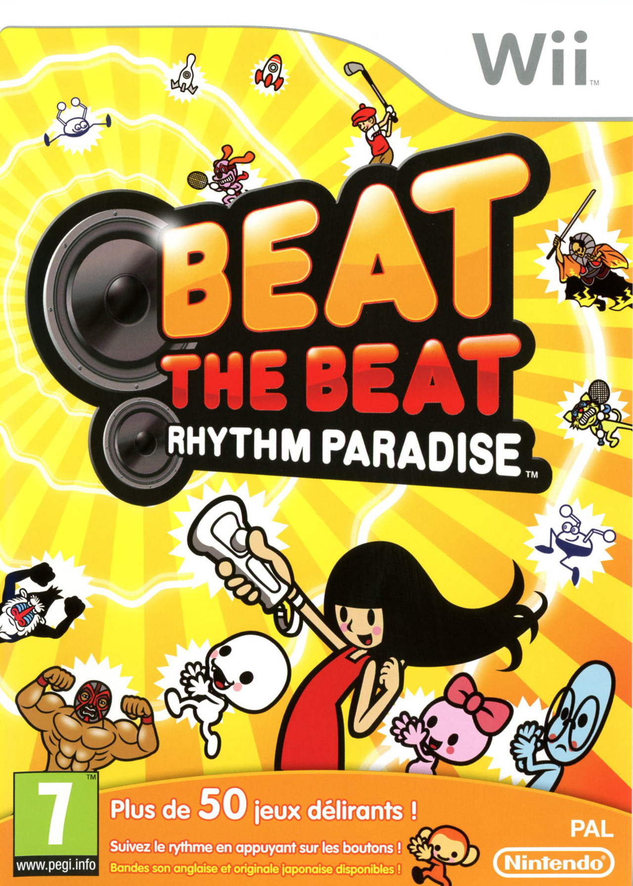 Test Beat the Beat Rhythm Paradise Wii
