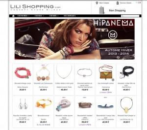site bijoux et accessoires Lili Shopping